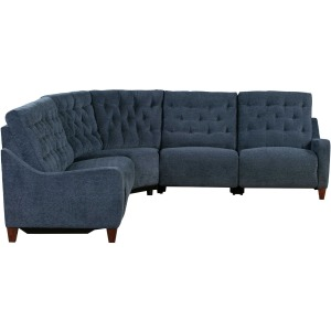 Chelsea 5 PC Power Reclining Sectional - Willow Blue