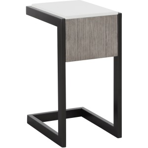 Pure Modern C-Table w/Quartz Top- Moonstone
