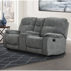 Cooper - Shadow Grey Manual Console Loveseat