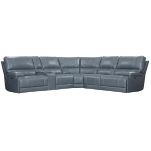 Whitman - Verona Azure 6 PC Sectional Powered by Freemotion