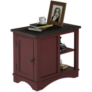 Americana Modern-Cranberry Chairside Table
