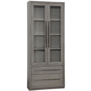 "Pure Modern 36"" Glass Door Cabinet - Moonstone"