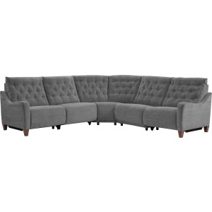 Chelsea 5 PC Power Reclining Sectional - Willow Grey