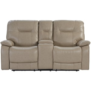 Axel Parchment Power Console Loveseat