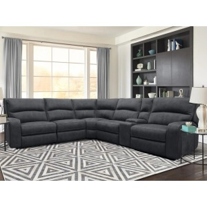 Polaris 6 PC Power Reclining Sectional - Slate