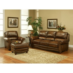 Cambria Leather Pushback Recliner