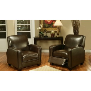 Derby Pushback Leather Chair