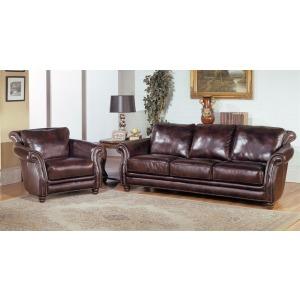 Prestige Savannah Leather Loveseat