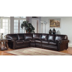 Prestige Stanford Leather Sectional