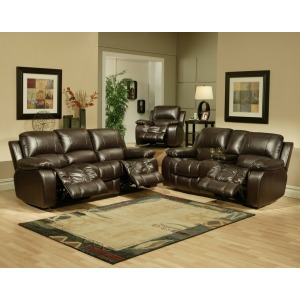 Sonoma Recliner Leather Entertainment Loveseat
