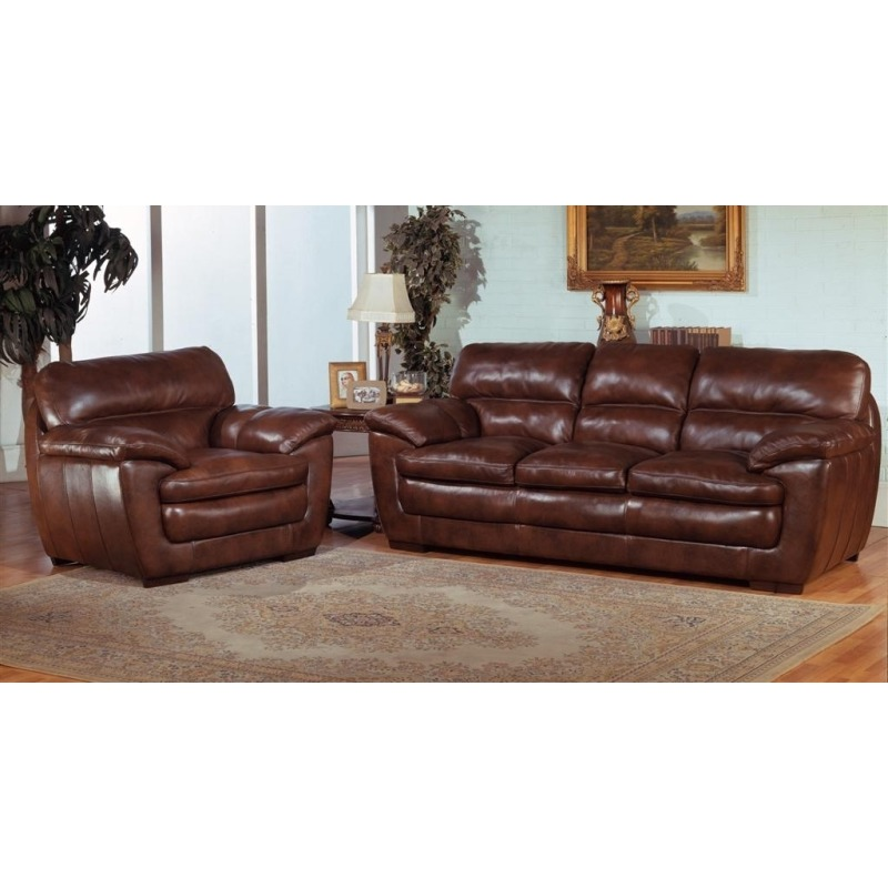 Prestige Benton Leather Loveseat
