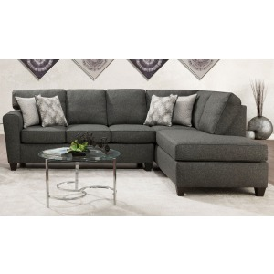 Grande Charcoal 2 PC Sectional