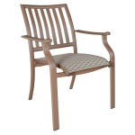 Island Breeze Stackable Sling Arm Chair