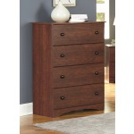 Cinnamon Fruitwood 4 Drawer Chest