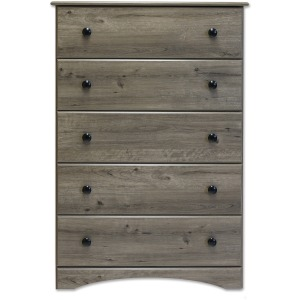 5 Drawer Chest - Weathered Gray Ash