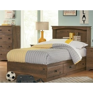 Aspen Oak Twin Mates Bed