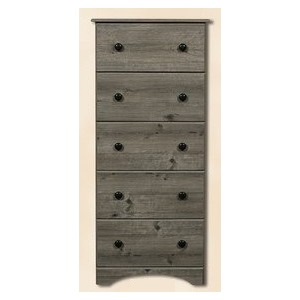 5 Drawer Chest- Weathered Gray Ash
