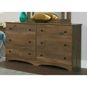 6 Drawer Dresser - Aspen Oak