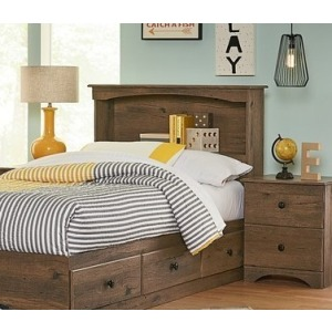 Twin Bookcase Headboard - Aspen Oak