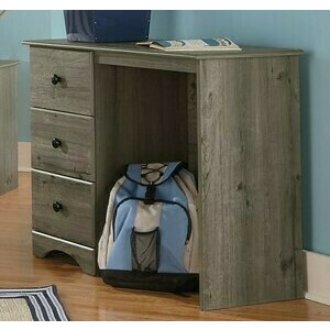 3 Drawer Desk - Weathered Gray Ash