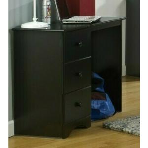 3 Drawer Desk - Black