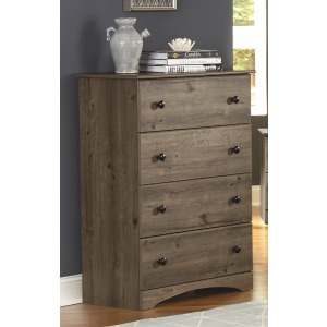 4 Drawer Chest- Weathered Gray Ash