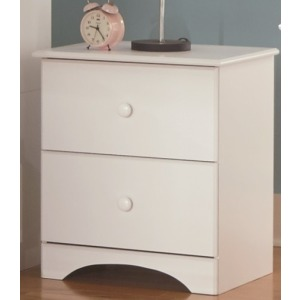 "21"" Nightstand - White"