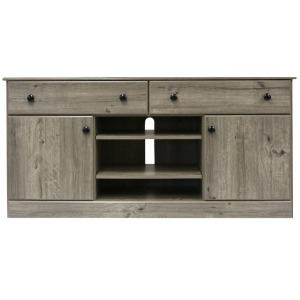 Media Console - Weathered Gray Ash