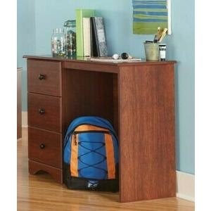 3 Drawer Desk - Cinnamon Fruitwood