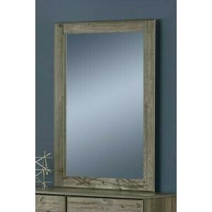 Mirror - Weathered Gray Ash