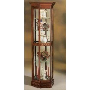 Classic Half Hex Curio Cabinet