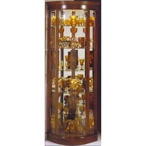 Auberage Curved Corner Curio Cabinet