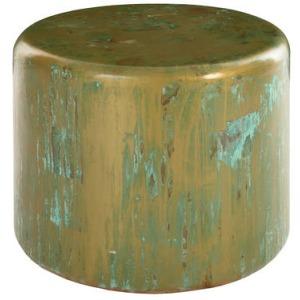 Button End Table Lichen Finish