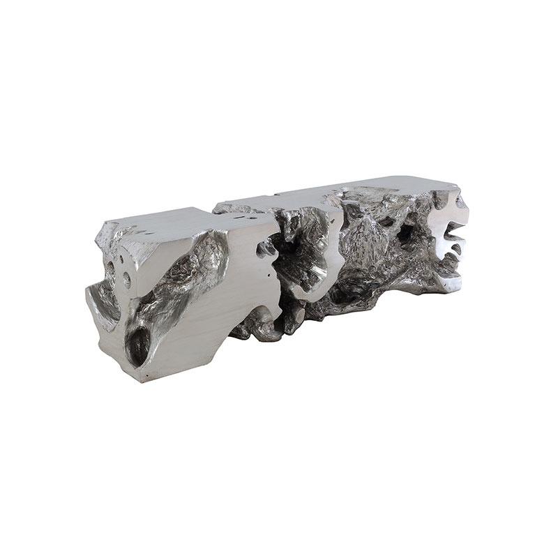 Freeform Bench Silver Leaf