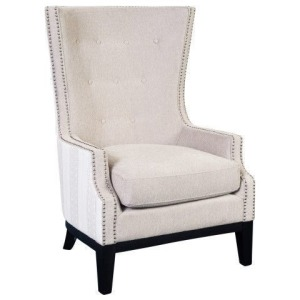 Lilian Cream & Tan Accent Chair