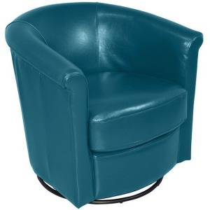 Marvel Swivel Accent Chair - Teal Blue