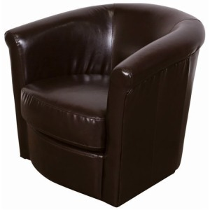 Marvel Swivel Chair - Chocolate
