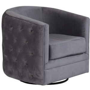 Gabby Gray Swivel Accent Chair
