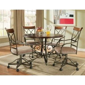 5-Pc. Hamilton Dining Set – 1 697-413 Dining Table & 4 697-435 Swivel Arm Chairs