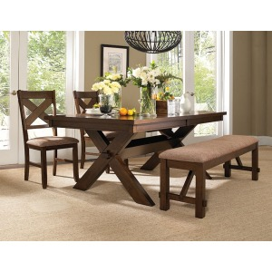 4-Pc. Kraven Dining Set – 713-417 Table, 713-260 Bench & 2 713-434 Side Chairs
