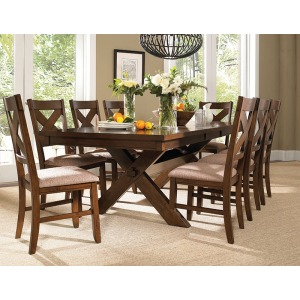9-Pc. Kraven Dining Set – 1 713-417 Dining Table & 8 713-434 Side Chairs