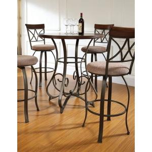5-Pc. Hamilton Pub Table Set with 4 Swivel Bar Stools – 1 697-404 4 697-481