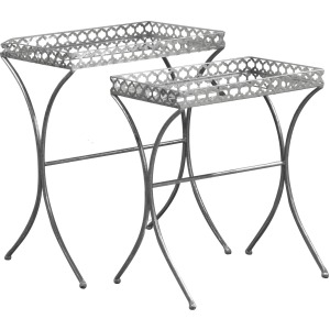Apollo Silver Nesting Tables