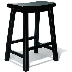 """""""Antique Black"""" with Sand Through Terra Cotta Counter Stool, 24″ Seat Height"""