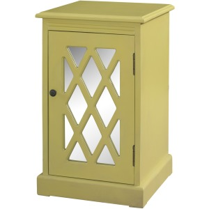 Honey Butter Mirror Chippendale Cabinet