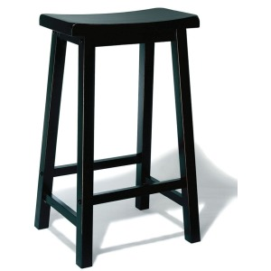 """""""Antique Black"""" with Sand Through Terra Cotta Bar Stool, 29″ Seat Height"""