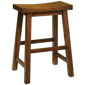 """""""Honey Brown"""" Counter Stool, 24″ Seat Height – overpacked"""