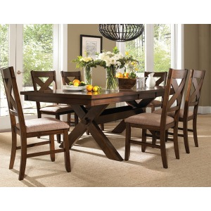 7-Pc. Kraven Dining Set – 1 713-417 Dining Table & 6 713-434 Side Chairs