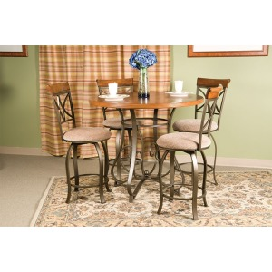 5-Pc. Hamilton Gathering Set – 1 697-441 Gathering Table & 4 697-726 Swivel Counter Stools