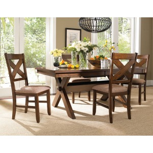 5-Pc. Kraven Dining Set – 1 713-417 Dining Table & 4 713-434 Side Chairs